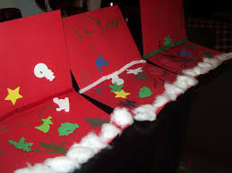 christmas card crafts for children preschool crafts