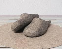 bedroom slippers for men felt man slippers etsy