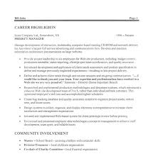 Project Manager Resume Sample Doc Project Manager Resume Templates And On Pinterest For 21