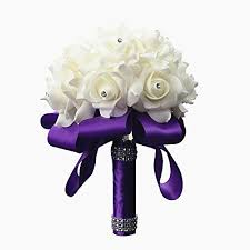 purple wedding bouquets purple wedding bouquets