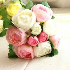 home decor parties canada artificial silk flower peony bouquet 9 heads flowers home cafe