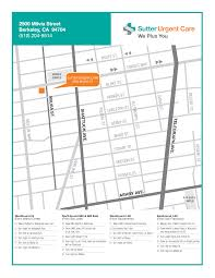 Berkeley Campus Map Urgent Care In Berkeley Sutter Urgent Care Center Locations