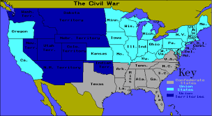 Confederate States Map by Book Report By E D