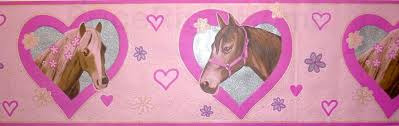 frise pour chambre frise papier peint imprimé chevaux decoration chambre enfant 5m x