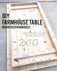 diy farm table plans 2 078 likes 127 comments holly our faux farmhouse