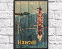 Hawaii gifts for travelers images 62 best wood art vintage travel posters images jpg