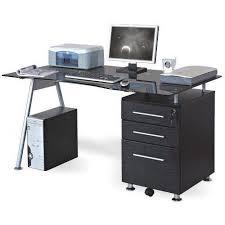 bureau informatique verre trempé bureau table informatique nero noir verre achat vente