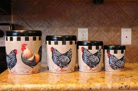 rooster kitchen canisters country kitchen canister sets team galatea homes decorative