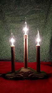 vintage noma style electric candle lights vintage window