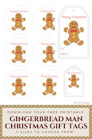 printable gingerbread man gift tags gingerbread man christmas gift tags a gift for pauline the birch
