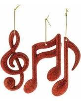 sale ornaments gold treble clef note plastic