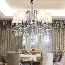 Elegant Crystal Chandelier Oofay Light Simple And Elegant 5head Crystal Cloth Chandelier