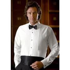 laydown collar tuxedo shirts