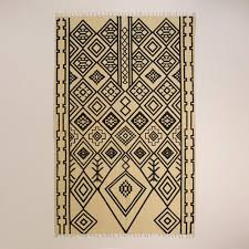 Graphic Area Rugs Zuri Graphic Print Jute Area Rug At Cost Plus World Market