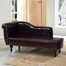 Living Room Furniture Chaise Lounge Black Storage Chaise Lounge Sofa Chair For Your