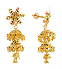 design of gold earrings with design win min gold earrings designs indian gold earrings images fancy