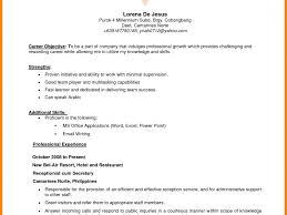 Resume Objective For Restaurant Resume Objective Example Haadyaooverbayresort Com