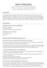 Supermarket Resume Examples by Marketing Assistant Resume Templates Resumedoc