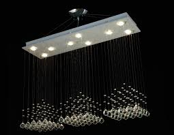 Rectangular Chandelier With Crystals G902 B6 1120 10 Gallery Modern Contemporary 10 Light 40