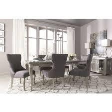 Silver Rectangular Extendable Dining Room Set - Extendable dining room table