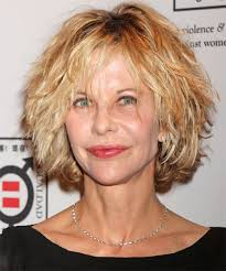 meg ryan s hairstyles over the years meg ryan short wavy casual shag hairstyle with layered bangs