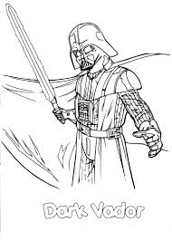 Coloriage Star Wars Dark Vador  coloriages imprimer download