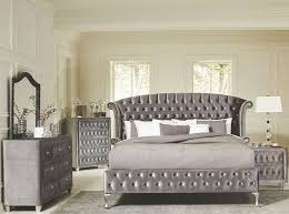 king size fabric bed frame tags gray upholstered platform bed