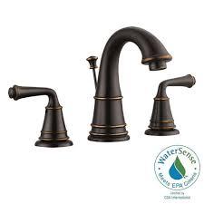 Design House Eden 8 in Widespread 2 Handle Bathroom Faucet in Oil