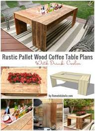 build a patio table with built in ice boxes patio table