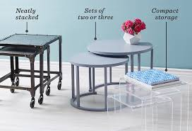 Coffee Table With Nesting Stools - the essential guide to nesting tables one kings lane