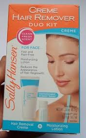 sally hansen creme hair remover duo kit for face review hair