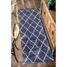 nuloom shaggy blue trellis shag area rug reviews wayfair idolza