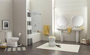Yellow And Gray Bathrooms - bathroom gray bathroom with wood flooring also bold stripe