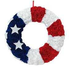 shop 20 in patriotic artificial fourth of july wreath at lowes com