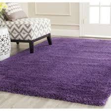 Purple Shag Area Rugs Safavieh Milan Shag Purple Rug 4 X 6 Milan Squares And Rounding