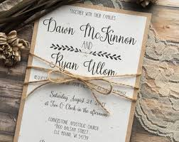 wedding invitations etsy rustic wedding invitations etsy stephenanuno