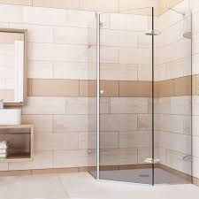 vigo verona 38 x 38 in frameless neo angle shower enclosure with
