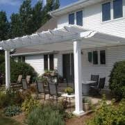 White Vinyl Pergola by Attached 16 U0027 X 12 U0027 Pergola Kit White Vinyl W Aluminum Frame 5