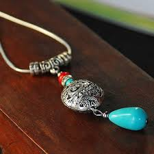 tibetan silver ethnic necklace images Original pure handmade chinese style short necklace colored jpg