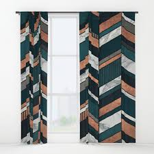 Chevron Pattern Curtains Abstract Chevron Pattern Copper Marble And Blue Concrete