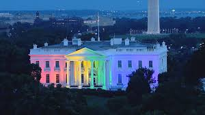 time lapse shows white house light up with rainbow nbc news