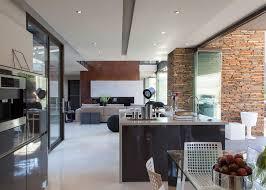 huge modern kitchens big modern house open floor plan design home improvement inspiration