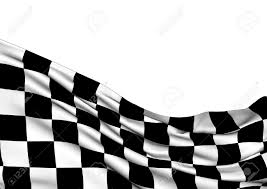 Checker Flag Background With Waving Racing Three Dimensional Checkered Flag