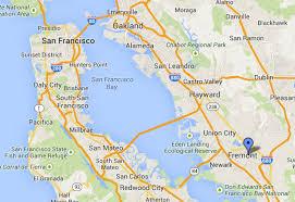 san francisco map east bay central california 1 usa and canada