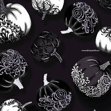 silver metallic pumpkin fabric halloween quilt fabric henry