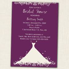 Make Your Own Bridal Shower Invitations Purple Bridal Shower Invitations Marialonghi Com