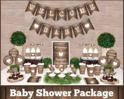 neutral baby shower themes garden baby shower etsy