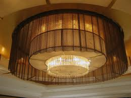 Metal Coil Drapery Lamp Shade