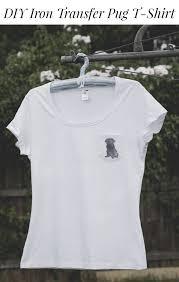 diy iron transfer pug t shirt the pug diary
