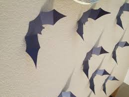 Halloween Bat Stencils by Halloween Crafts Paper Bat Wall For Free Courtney U0027s Craftin U0026cookin